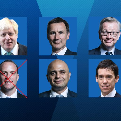 The contenders to succeed Theresa May