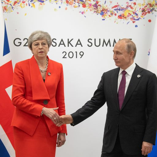 May tells Putin to end all 'irresponsible' activity that threatens UK and allies