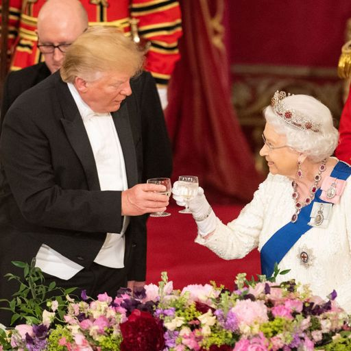 Trump talks of 'eternal friendship' with UK as he is honoured with state banquet