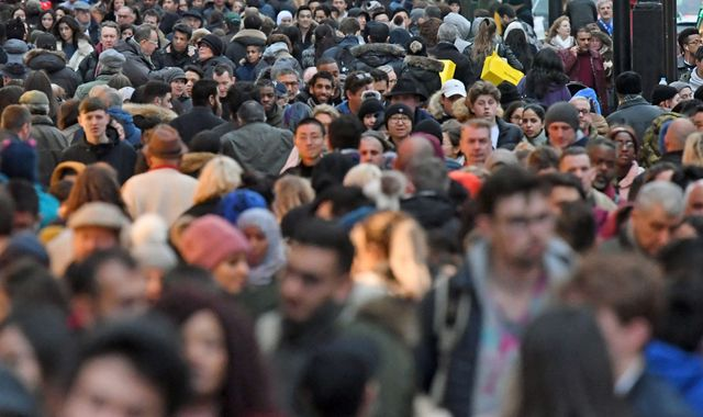 UK's population rises to 66.4m with migration 'bigger driver' than births and deaths - ONS