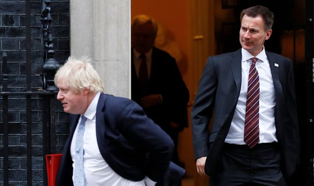 'Don't be a coward Boris, man up and show nation you can cope', Hunt tells rival Johnson
