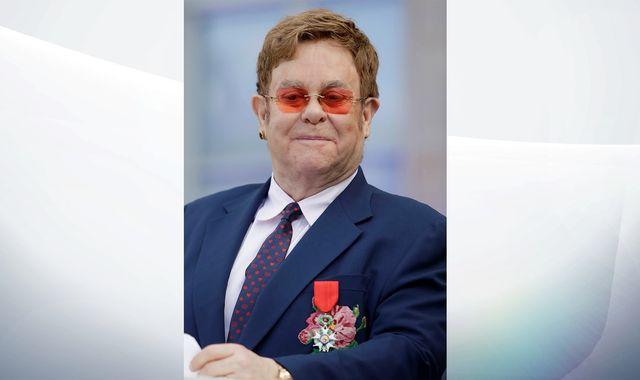 Sir Elton John gets France's highest civilian honour from President Emmanuel Macron