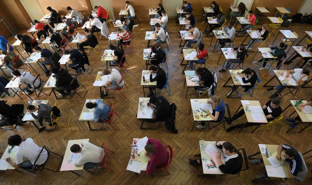 Two arrested over leak of A-Level maths paper, exam body says