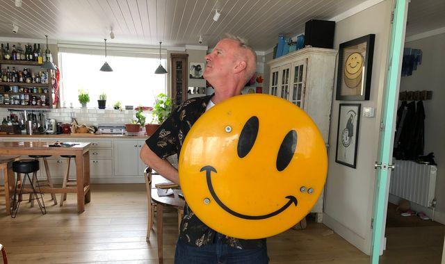 Fatboy Slim debuts unusual collection of smiley memorabilia