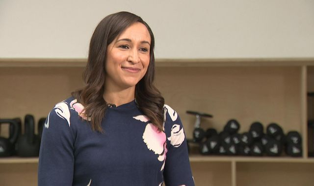 "Jess Ennis-Hill tells Sky News pregnancy was the 'toughest time"" of her life"