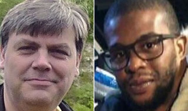 Father stabbed to death in front of son on train after 'row over blocking aisle'