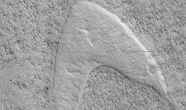 Star Trek 'Starfleet logo' spotted on Mars by NASA probe