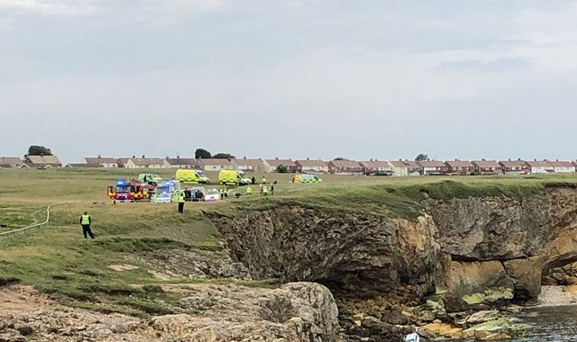 Man seriously injured after car plunges over cliffs at The Leas in South Tyneside