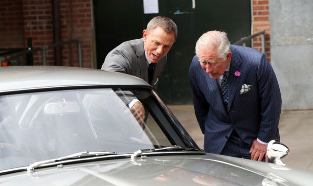 Prince Charles causes a stir on 007 set in 'Bond-themed' tie