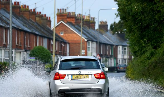 UK weather forecast: Two weeks of rain in one morning but 30C on way