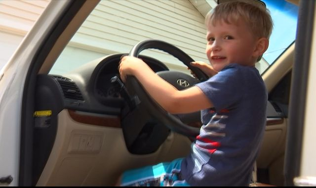 Boy, 4, secretly drives great-grandpa's car on mission for sweets