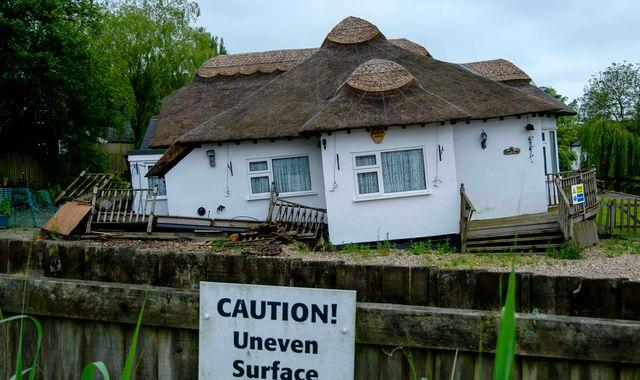 Couple 'devastated' as £850,000 riverside cottage starts sinking