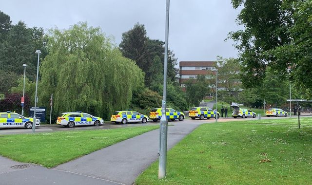 Man arrested after reports students at Exeter University threatened with 'gun'