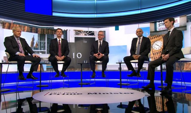 Conservative leadership race: Contenders clash in fractious TV debate