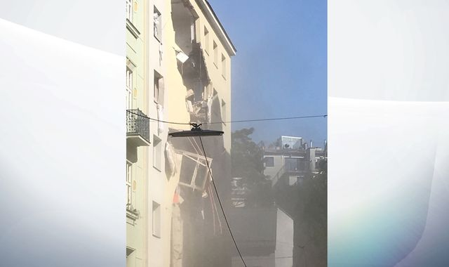 Vienna 'gas explosion': 12 injured - two seriously - after blast blows hole in building