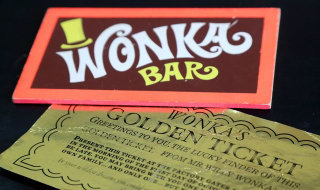 It's a golden ticket! Classic Wonka prop up for auction