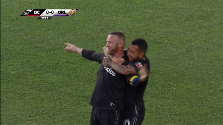 Wayne Rooney scored from his own half for the third time in his career as DC United beat Orlando City 1-0