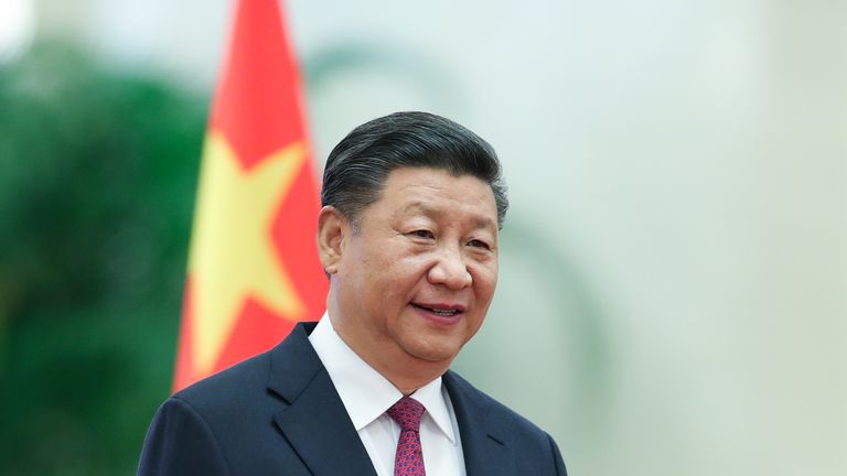 BEIJING, CHINA - SEPTEMBER 07:  Chinese President Xi Jinping attends the a welcoming ceremony for Prince Albert II of Monaco inside the Great Hall of the People on September 7, 2018 in Beijing, China. At the invitation of Chinese president Xi Jinping, Prince Albert II, the Head of State of the Principality of Monaco will pay a state visit to China From September 5th to 8th.  (Photo by Lintao Zhang/Getty Images)