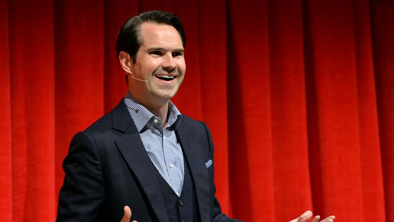 LONDON, ENGLAND - MARCH 25:  Jimmy Carr performs on stage in Stand Up Soho as part of Advertising Week Europe, Piccadilly on March 24, 2015 in London, England.  (Photo by Anthony Harvey/Getty Images for Advertising Week)