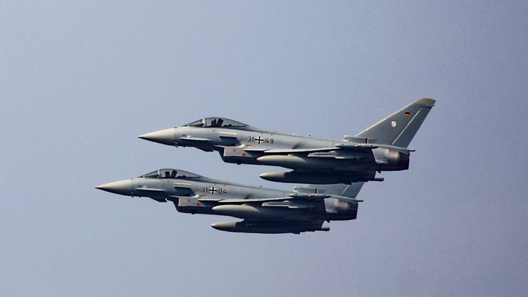 Two Eurofighter jets crash after mid-air collision in Germany