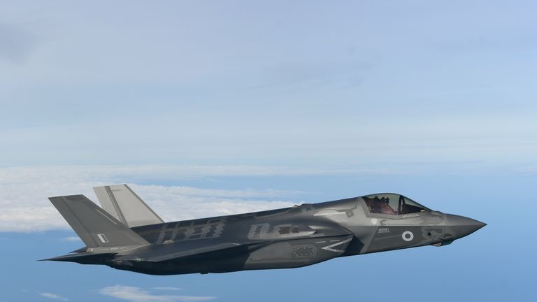 File photo dated 19/2/2019 of an F-35B Lightning stealth jet. The UK's F-35B Lightning stealth fighter jets will start their first overseas deployment in Cyprus later this year.