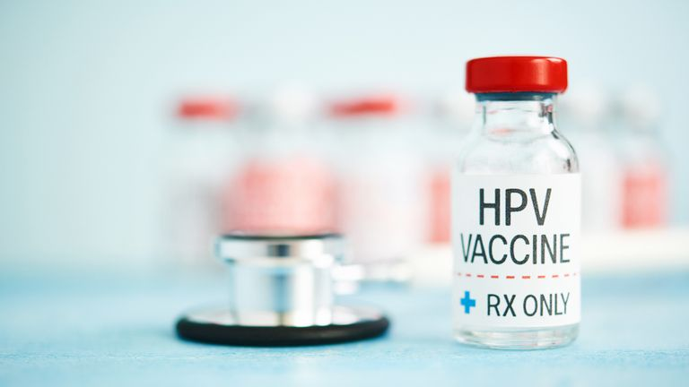 Medical Vial with HPV Vaccine