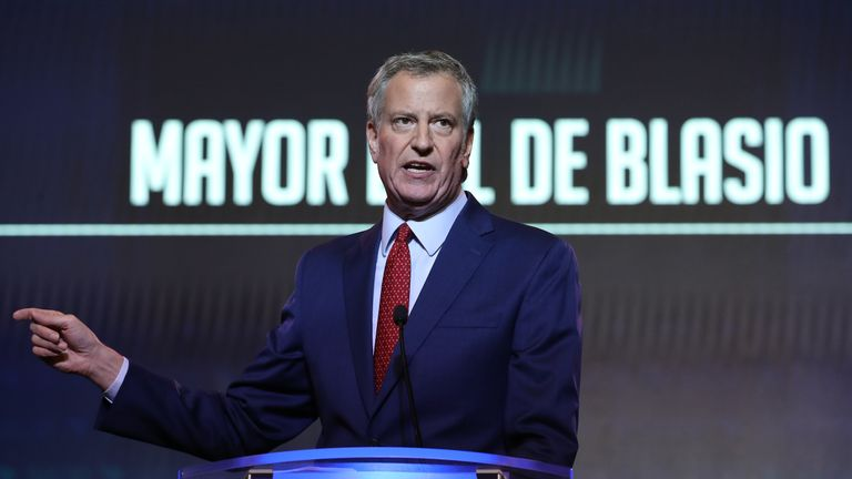 COLUMBIA, SOUTH CAROLINA - JUNE 22: Democratic presidential candidate New York City Mayor Bill de Blasio speaks at the South Carolina Democratic Party State Convention on June 22, 2019 in Columbia, South Carolina. Twenty-two Democratic presidential candidates are scheduled to appear in South Carolina this weekend as the state Democratic party hosts its annual convention. (Photo by Win McNamee/Getty Images)