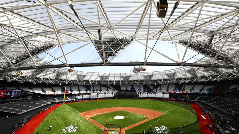 LONDON, ENGLAND - JUNE 28:  A general view of the stadium during previews ahead of the MLB London Series games between Boston Red Sox and New York Yankees at London Stadium on June 28, 2019 in London, England. (Photo by Dan Istitene/Getty Images)