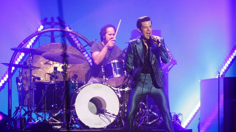 American band The Killers perform the Saturday headline slot at Glastonbury Festival in Somerset, Britain June 29, 2019. REUTERS/Henry Nicholls