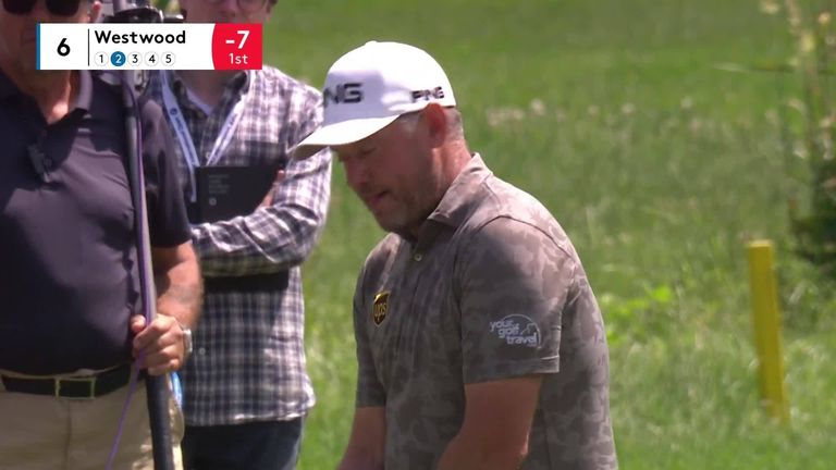 Lee Westwood does well to abandon his swing after a spectator forgot to put his phone on silent during the second round of the BMW International Open
