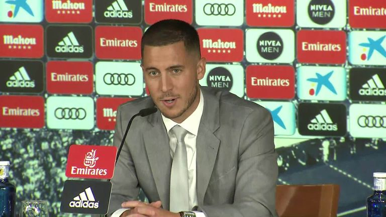 Hazard says he would like to become the world's best player at Real Madrid