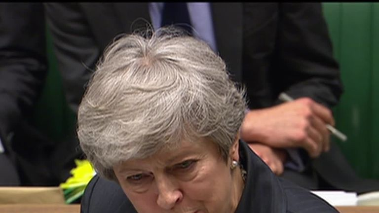 Theresa May at PMQs