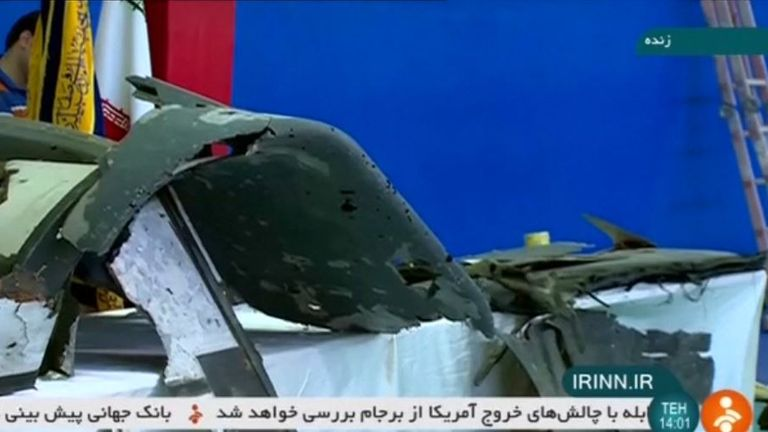 Iranian state television on Friday showed what it said were retrieved sections of the downed US military drone