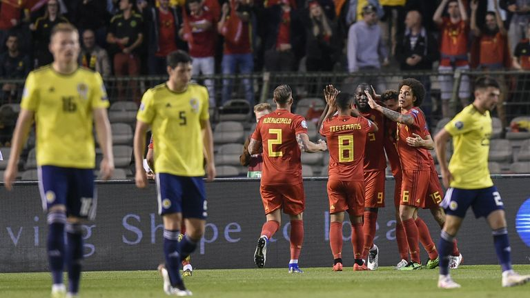 Highlights as Lukaku scored twice in Belgium's 3-0 win over Scotland in European Qualifying
