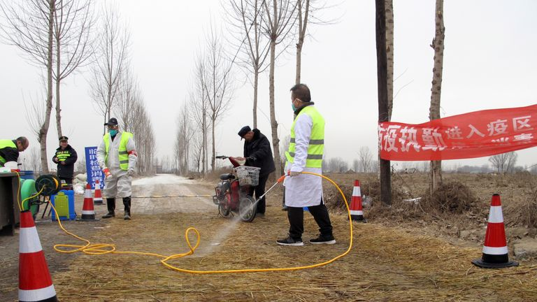African swine fever was found at a farm in China in February