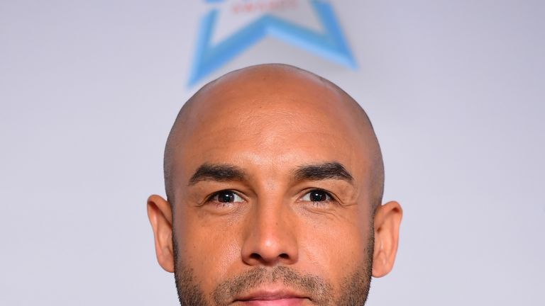 Alex Beresford attending Good Morning Britain's Health Star Awards,