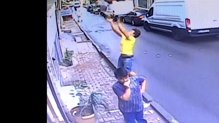 Algerian immigrant catches falling toddler