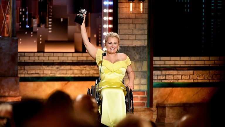 Ali Stroker was named best actress in a musical at the Tony Awards