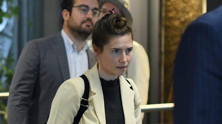Amanda Knox arrives Italy to speak at the Criminal Justice Festival in Milan