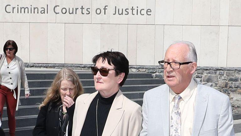 Ana Kriegel's parents Patric and Geraldine Kriegel leave Dublin's Central Criminal Court after the verdicts