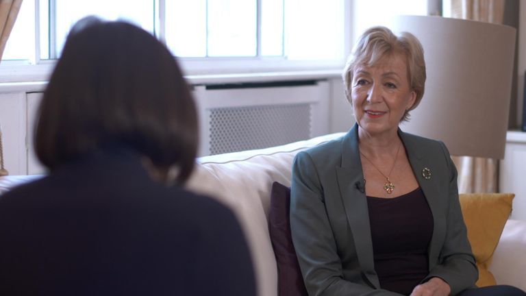 Andrea Leadsom speaks to Sky's Beth Rigby