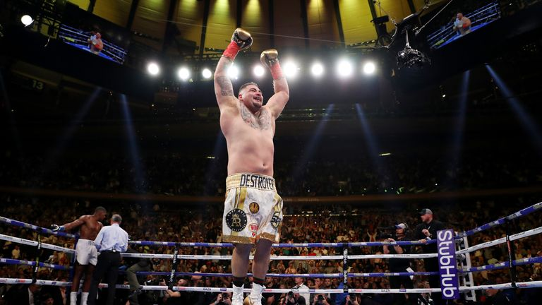 Ruiz jumps for joy after securing his win
