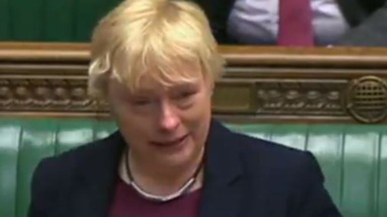 Angela Eagle was arguing in favour of lessons about same sex relationships