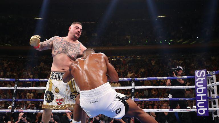 Joshua lost all three of his heavyweight titles