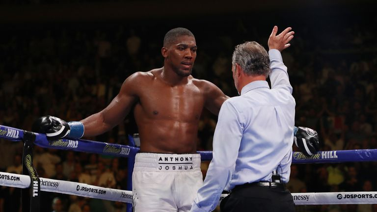 The referee brought the fight to an end in the seventh round