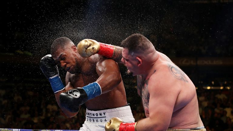 Joshua went down four times as Ruiz dominated the fight