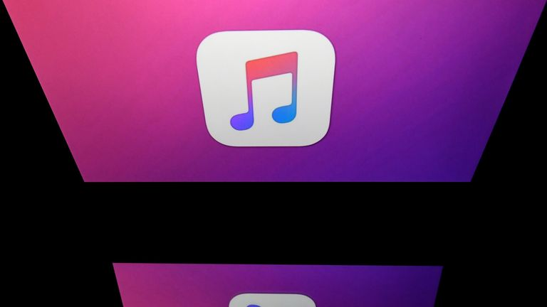 This illustration picture taken on April 19, 2018 shows the logo of the Itunes app of Apple displayed on a tablet screen in Paris. (Photo by Lionel BONAVENTURE / AFP) (Photo credit should read LIONEL BONAVENTURE/AFP/Getty Images)