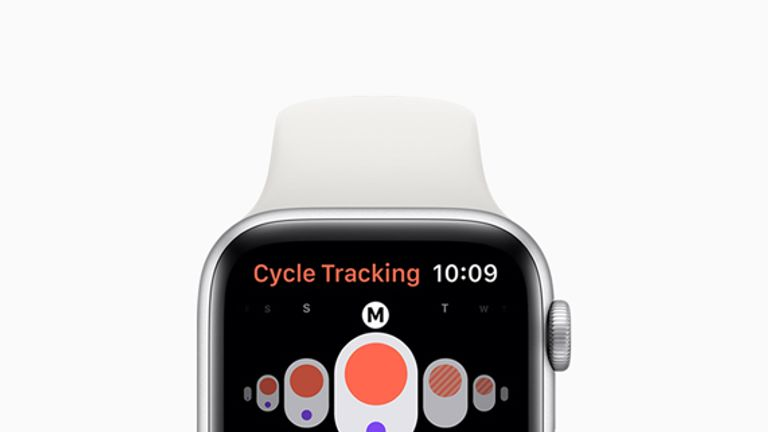 With the Cycle Tracking app, users can log information related to their menstrual cycles and see predicted timing for upcoming period and fertile windows. Pic: Apple