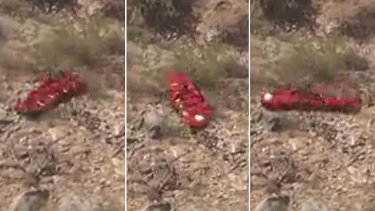 The basket with the woman inside it, spun around for 40 seconds. Pic: ABC15