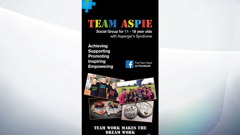 Richard Collins' Aspergers support group is called Team Aspie